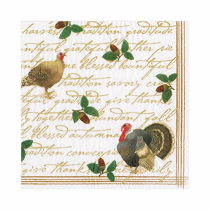 Founders' Thanksgiving Paper Luncheon Napkins--20 per package