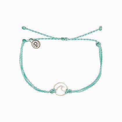 Wave Bracelet Ice Blue/Silver