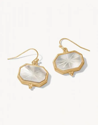 Window Carved Earrings Mother of Pearl