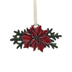 Poinsettia 2011 Annual Ornament from Danforth Pewter