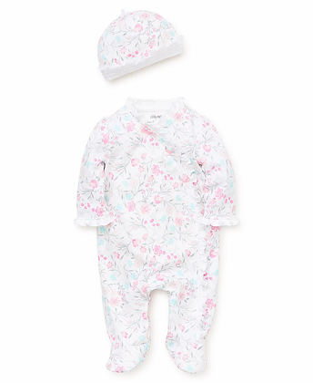 Watercolor Footed One-Piece with Hat