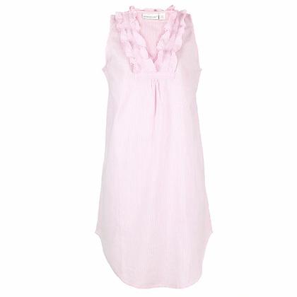 Pink Seersucker Cotton Nightgown