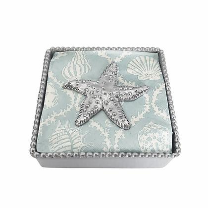 Sea Star Beaded Napkin Box