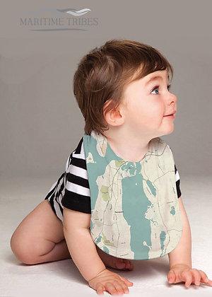 Portsmouth Seaglass Baby Bib