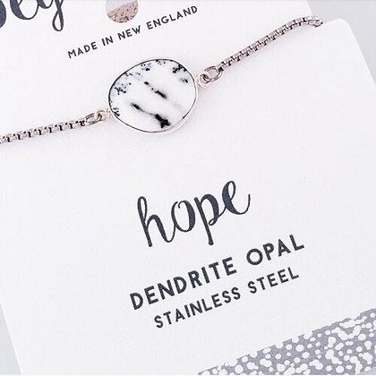 Dendrite Opal Slider Bracelet