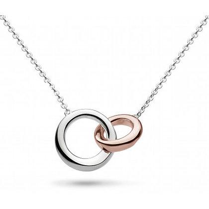 Bevel Cirque Link Necklace Rose Gold