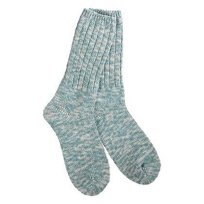 World's Softest Weekend Ragg Crew Socks Sage