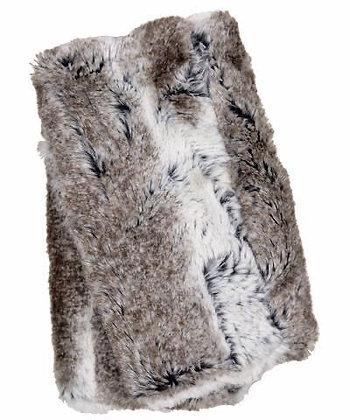 Faux Fur Fingerless/Texting Gloves in Birch