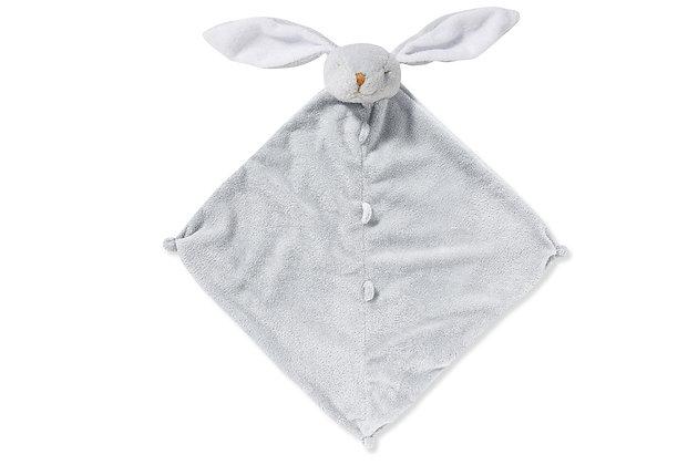Grey Bunny Lovey Blankie