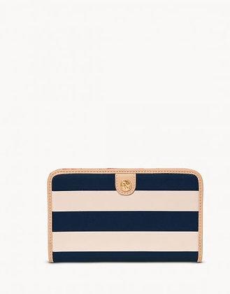 Snap Wallet Navy Stripe