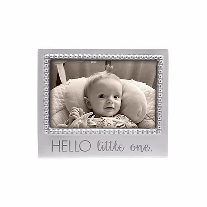 Hello Little One Beaded 4x6 Frame