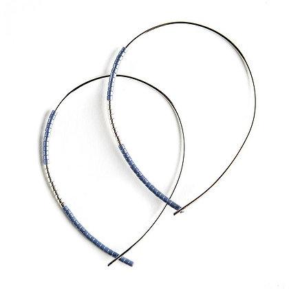 Norah Earrings Matte Cornflower/Silver