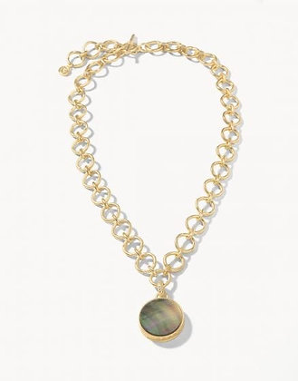 Naia Chunky Necklace Grey Pearlescent