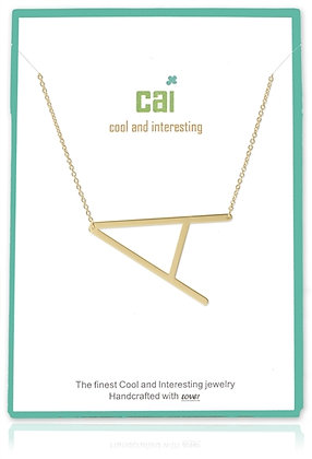 Medium Sideways Initial Necklace--A