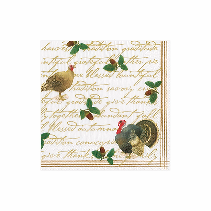 Founders' Thanksgiving Paper Cocktail Napkins--20 per package