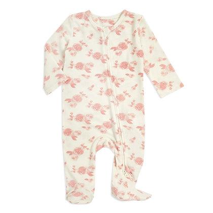 Snuggle Knit Newborn Footie Rosettes