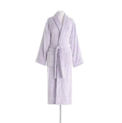 Soft Lilac Sheepy Fleece Robe Pine Cone Hill