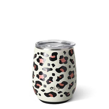 Luxy Leopard Stemless Wine Cup 14oz