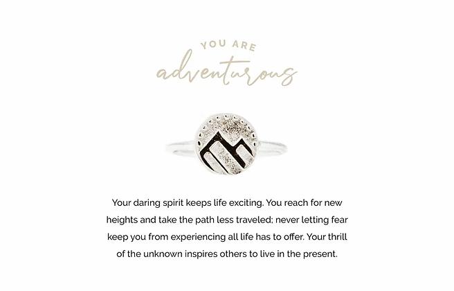 Adventurous Adjustable Ring Silver