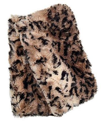 Faux Fur Fingerless/Texting Gloves in Carpathian Lynx