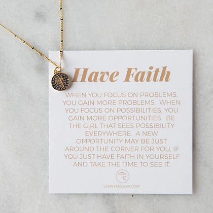 Have Faith Necklace, Cross