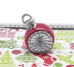 Red Ornament Napkin Weight