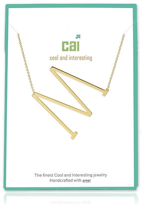 Medium Sideways Initial Necklace--M