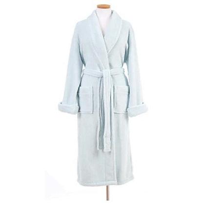 Chalk Blue Sheepy Fleece Robe Pine Cone Hill
