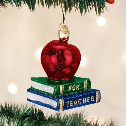 Teacher's Apple Ornament from Old World Christmas