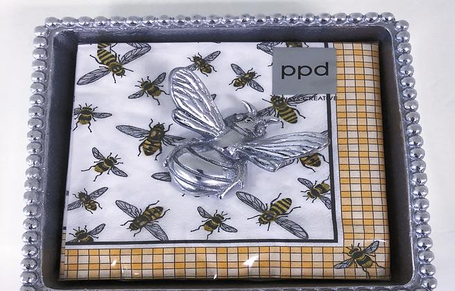 Bumblebee Beaded Napkin Box