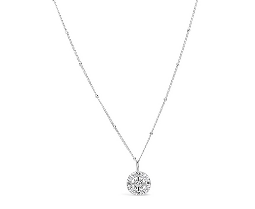 Stia by the Sea Pave Compass Necklace