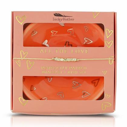 All the Love Bracelet + Dish Set