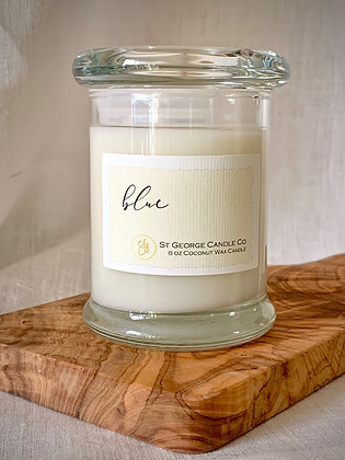 Blue Coconut Wax Candle