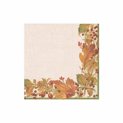 Autumn Garland Paper Cocktail Napkins--20 per package