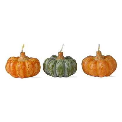 Heirloom Pumpkin Candles, Set of Three, from Tag