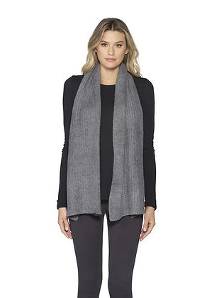 Barefoot Dreams Graphite Cozychic Lite Ribbed Scarf