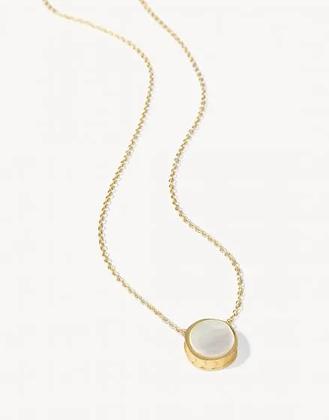 Naia Petite Necklace Pearl
