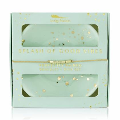 Splash of Good Vibes Bracelet + Dish Set