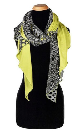 Handkerchief Scarf--Lunar Landing with Lime Jersey