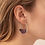 Thumbnail: Stone Prism Hoops Amethyst/Silver