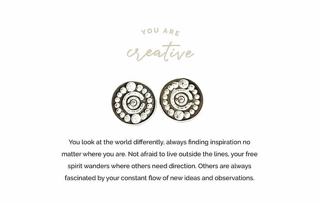 Creative Earrings Silver