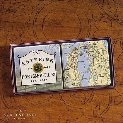 Entering Portsmouth Marble Coaster Set