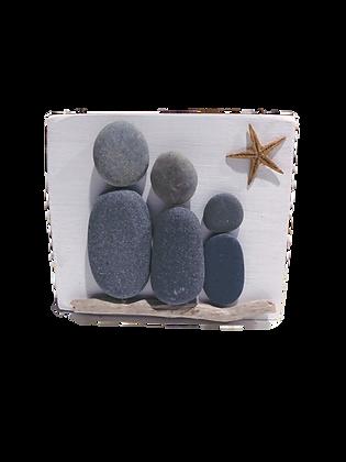 Beach Rock Family of Three