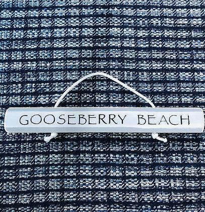 Gooseberry Beach Sign