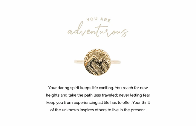 Adventurous Adjustable Ring Gold