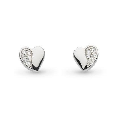 Miniature Sparkle CZ Sweet Heart Studs