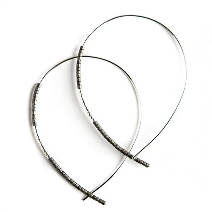 Norah Earrings Matte Graphite/Silver