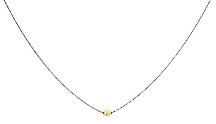 Cape Cod Necklace 14K Swirl Bead
