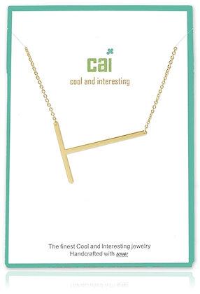 Medium Sideways Initial Necklace--T