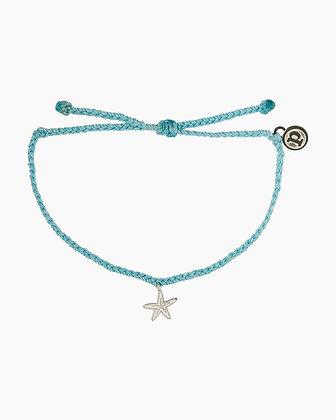 Enamel Starfish Charm Bracelet Crystal Blue